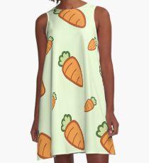 Cute Carrot Pattern A-Line Dress
