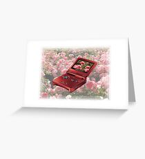 Rose Gameboy Greeting Card