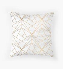 Marmor, Geometrie und Gold Dekokissen
