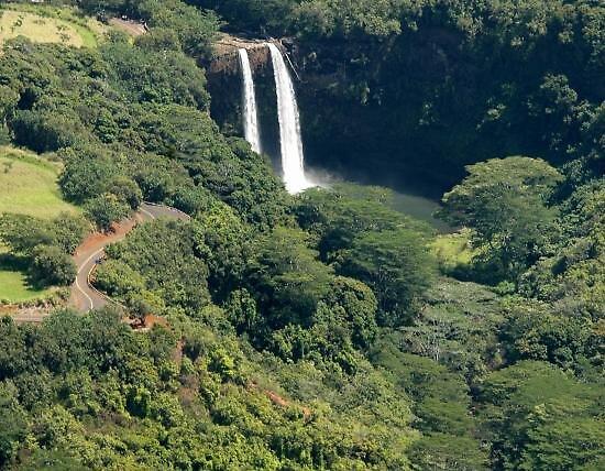 Opaekaa Falls in Hawaii, usa by chord0