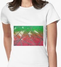 Sky reflections in green and red T-Shirt