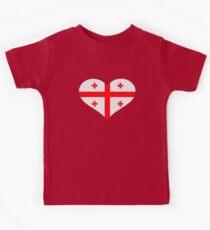 Georgia flag heart Kids Clothes