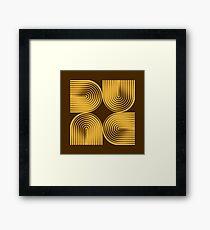 Dune Typographique Framed Print