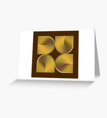Dune Typographique Greeting Card