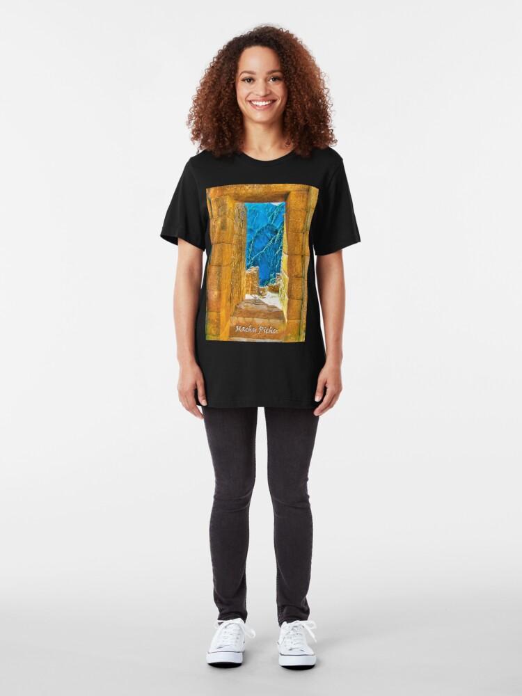 Alternate view of Machu Pichu Slim Fit T-Shirt