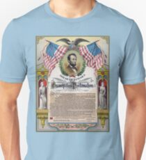 Abraham Lincoln's Emancipation Proclamation poster T-Shirt