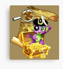 my little pony pirate spike Canvas Print