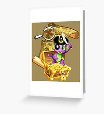 my little pony pirate spike Greeting Card