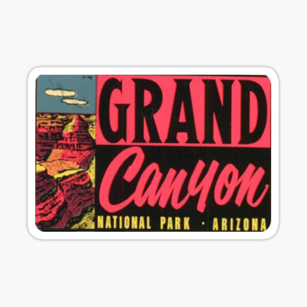 Grand Canyon National Park Vintage Travel Decal Sticker Sticker