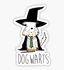 harry dogs dogwarts Sticker