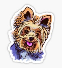 The Yorkie Love of My Life Sticker