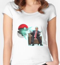 POKE BALL TRUMP Women's Fitted Scoop T-Shirt
