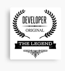Developer Canvas Print
