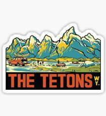 The Tetons - Grand Teton National Park Vintage Travel Decal Sticker