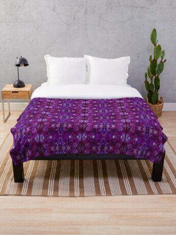 Zen I Am Crowned  Throw Blanket