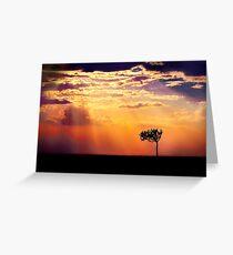 Sunset Over Masai Mara IV [Print & iPad Case] Greeting Card