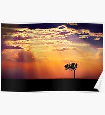 Sunset Over Masai Mara IV [Print & iPad Case] Poster