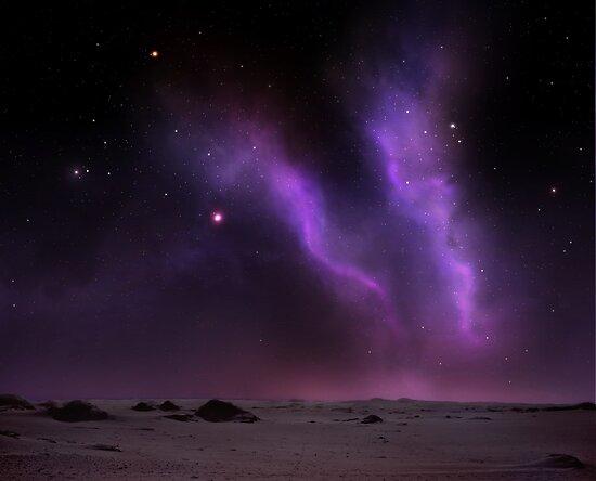 Night on the desert by Dominika Aniola