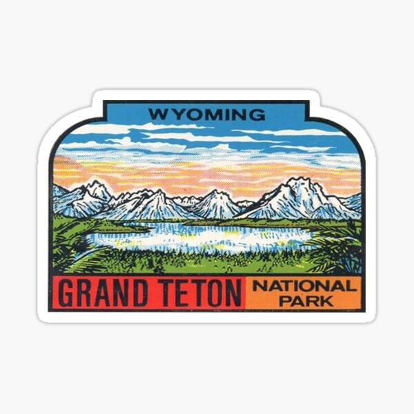 Wyoming Grand Teton National Park Vintage Travel Decal Sticker