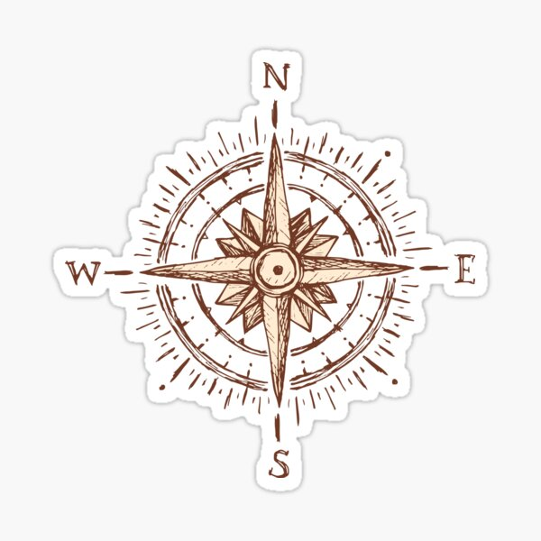 Compass Design Compass Direction	 Sticker