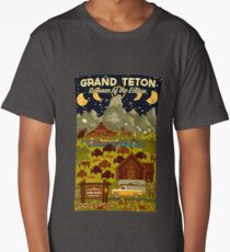 Grand Teton National Park - Summer of the Eclipse - Travel Decal Long T-Shirt