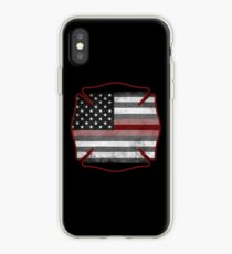 Thin Red Line - Fire Cross iPhone Case