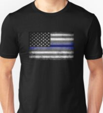 The Thin Blue Line - American Police Officer T-Shirt