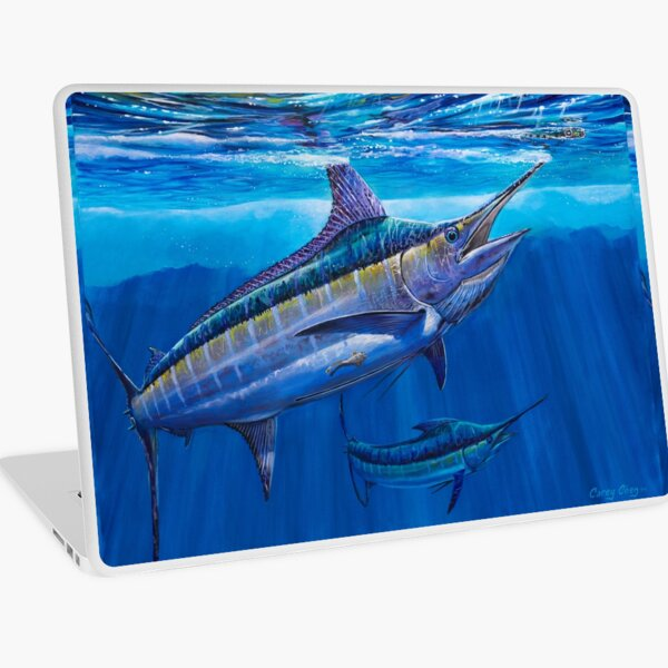 Blue Marlin Bite Laptop Skin