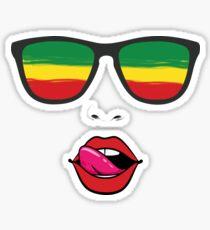 Rasta Glasses Sticker