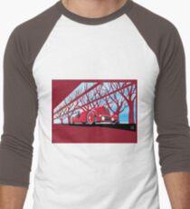 Ford Edsel vintage racer illustration Men's Baseball ¾ T-Shirt