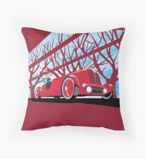 Ford Edsel vintage racer illustration Throw Pillow