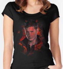 Splatter Dean Winchester Women's Fitted Scoop T-Shirt