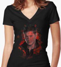 Spritzer Dean Winchester Shirt mit V-Ausschnitt