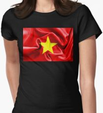 Vietnam Flag Women's Fitted T-Shirt