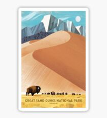 Great Sand Dunes National Park Colorado Travel Decal Bison Sticker