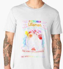 October Woman The Soul Of A Mermaid Men's Premium T-Shirt