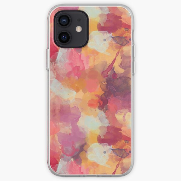 Abstract Watercolour - Red, Yellow, Purple iPhone Soft Case