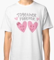 Together Forever Cute Couple Love Hearts Fun Anniversary Fun Classic T-Shirt