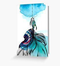 Fish fished Greeting Card