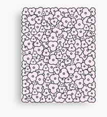 Popcorn Flower Field Pale Pink Canvas Print