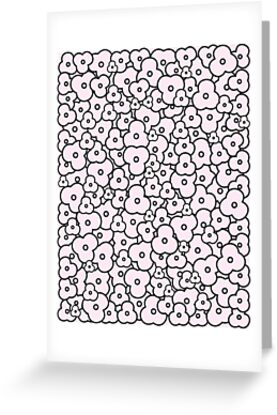 Popcorn Flower Field Pale Pink by meetminnie