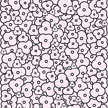 Popcorn Flower Field Pale Pink by meetminnie