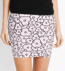 Popcorn Flower Field Pale Pink Mini Skirt