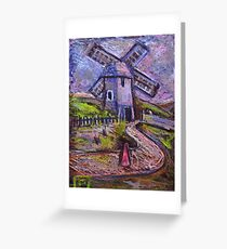 The old windmill Greeting Card