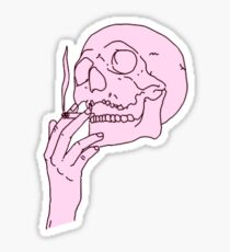 skeleton smoking Sticker
