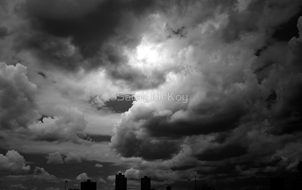 Storm Clouds in Black and White by Sarah McKoy