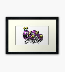 3D Pixel Gaming Characters - CaterKiller Framed Print