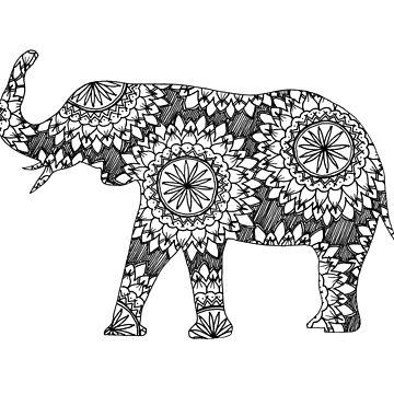 Elephant Mandala Design by harringe