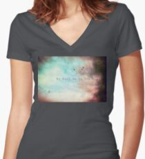 My soul is in the sky - Shakespeare Women's Fitted V-Neck T-Shirt