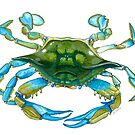 Watercolor Crab by iamdeirdre